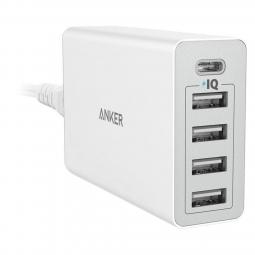 Sạc Anker 5 cổng, 40w (4 USB 1 Type-C)